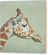 Giraffe Mug Shot Wood Print