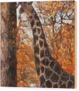 Giraffe Photo Art 03 Wood Print