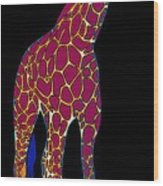 Giraffe Pop Art Wood Print