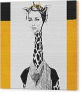 Giraffe Wood Print