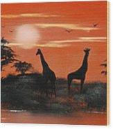 Serengeti Sunset Sold Wood Print