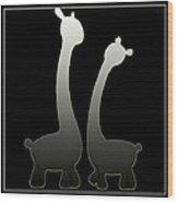 Giraffes... Wood Print