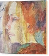 Girl At Window Wood Print