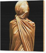 Girl Boundcovered In Silk Wood Print
