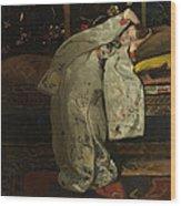 Girl In A Kimono Wood Print