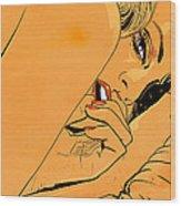 Girl In Bed 1 Wood Print