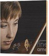 Girl Musician And Violin Or Viola Photograph Color 3361.02 Wood Print