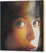 Girl Sans Variant Wood Print