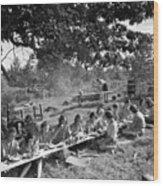 Girl Scout Picnic Wood Print