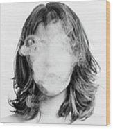 Girl Smoking Wood Print