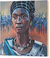 Girl South Sudan Wood Print