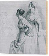 Girl Studies  1839 Wood Print