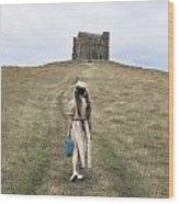 Girl Walks To A Chapel Wood Print