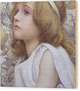 Girl With Apple Blossom Wood Print by Henry Ryland