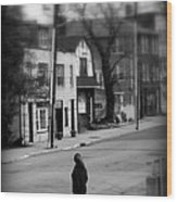 Girl With Dog - Somewhere In America Wood Print