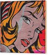 Girl With Hair Ribbon No2 Wood Print