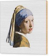 Girl With Pearl Earring Flip Side Wood Print