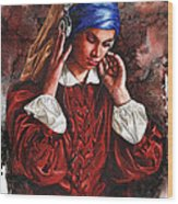 Girl With The Poor Hearing Wood Print