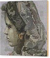 Girl With Yellow Earring Gwye1 Wood Print
