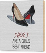 Girl's Best Friend Wood Print