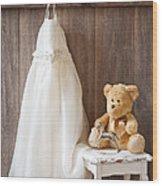 Girls Dress Wood Print