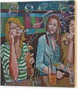 Girls Party Wood Print
