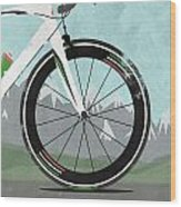Giro D'italia Bike Wood Print by Andy Scullion
