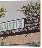 Giusti's In The Sacramento San Joaquin Delta Wood Print