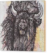 Give Me A Home Where The Buffalo Roam Wood Print