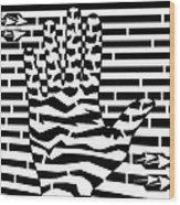 Give Me Five Maze  Wood Print
