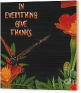 Give Thanks Wood Print