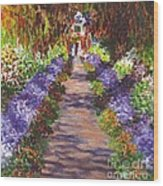 Giverny Gardens Pathway After Monet  Wood Print