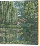Giverny Reflections Wood Print
