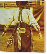 Gizmo The Rodeo Clown Wood Print