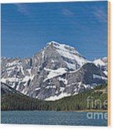 Glacier National Park Mountain Wood Print
