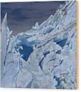 Glacial Blue Wood Print