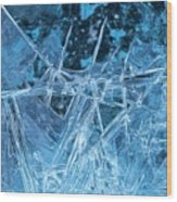 Glacial Ice Formations Wood Print