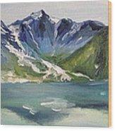 Glacial Lake Wood Print