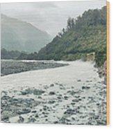 Glacial River Wood Print