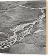 Glacial Rivers Wood Print