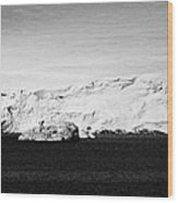glacial shoreline with snow cap on anvers island and neumayer channel Antarctica Wood Print
