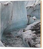 Glacial Waters Wood Print