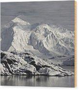 Glaciated Peaks Anvers Isl Antarctica Wood Print