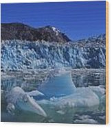 Glacier And Ice Wood Print