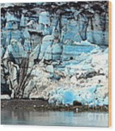Glacier And Sediments Wood Print