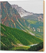 Glacier Area By Mount Edith Cavelle In Jasper Np-alberta Wood Print