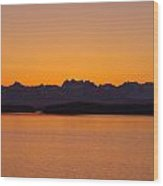 Glacier Bay Sunrise Wood Print