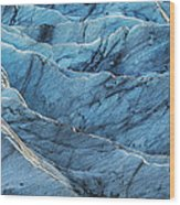Glacier Blue Wood Print