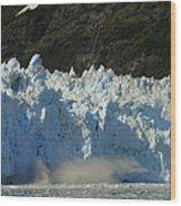 Glacier Calving Wood Print