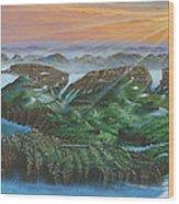 Glacier Castle Ruins Wood Print